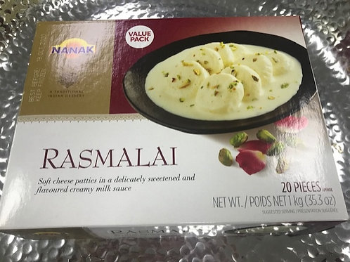 Nanak Rasmalai 20pc (Case of 10 Packs)