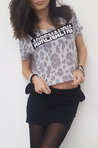 "TOP CROP ADRENALYNA ""leopard"""