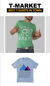 Mode & kläder website templates – Shop t-shirts