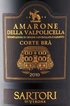 94 pts.  Sartori Amarone Della Valpolicella Classico Corte Brà 2009