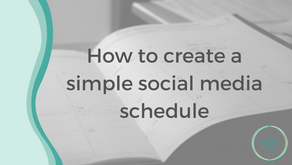 How to create a simple social media schedule