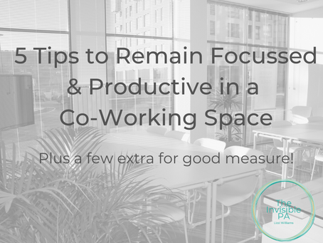 5 Tips to Remain Focussed & Productive in a Co-Working Space