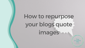 How to repurpose a blog into a quote image post