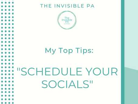 Schedule Your Socials - Top Tips!