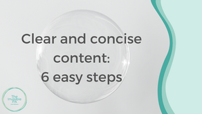How to present clear and concise content in 6 easy steps