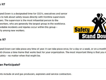 Safety Stand Down ~ January 2017