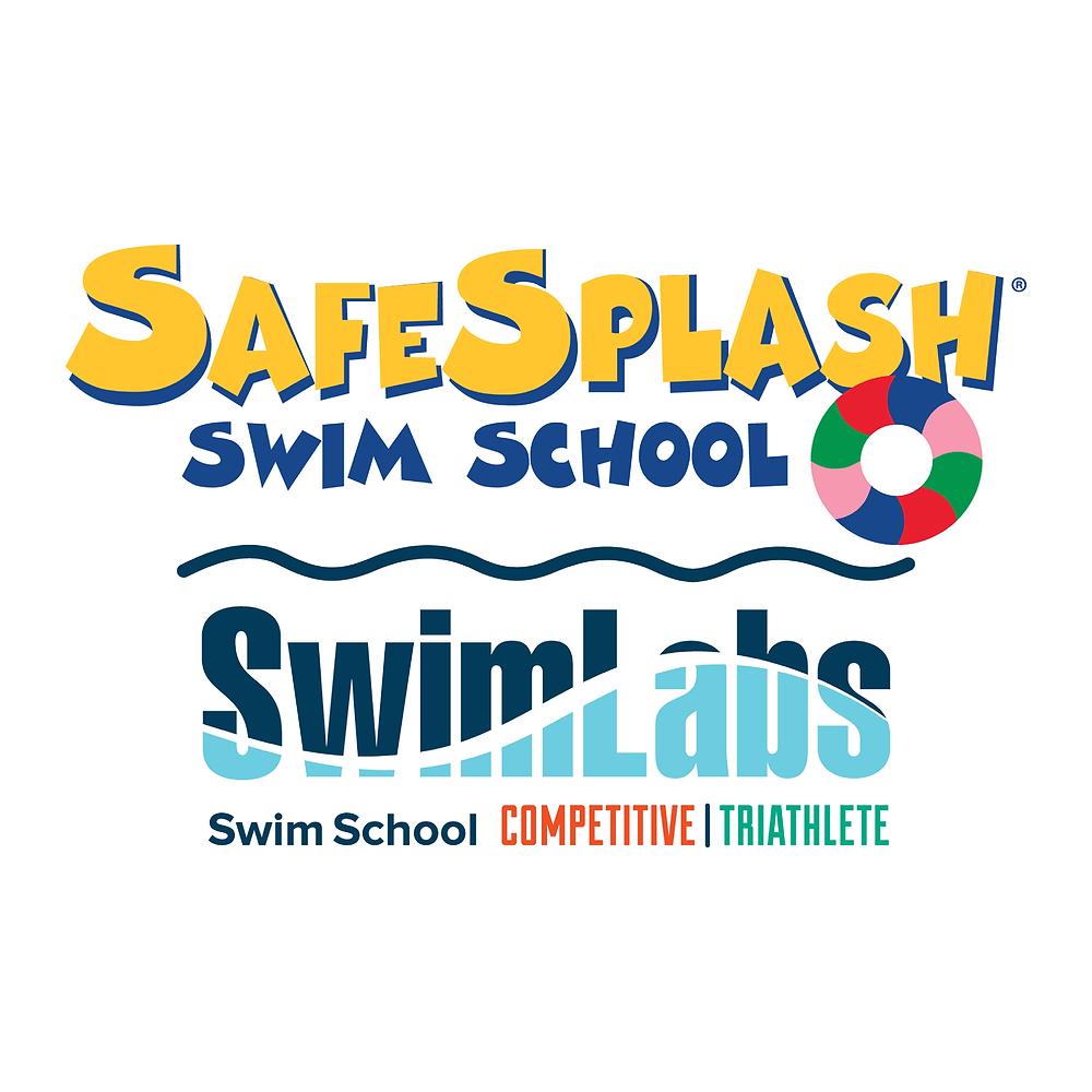 SafeSplash + SwimLabs Swim School Logo
