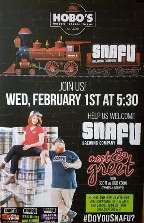 Snafu Meet, Greet + Sip at Hobo's