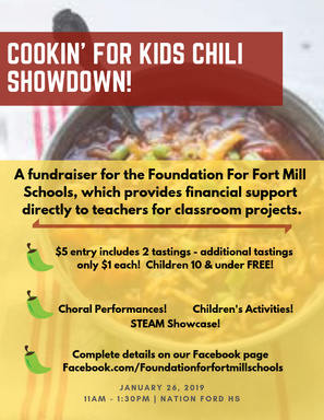 Foundation for Fort Mill Schools Cookin' 4 the Kids Chili Showdown
