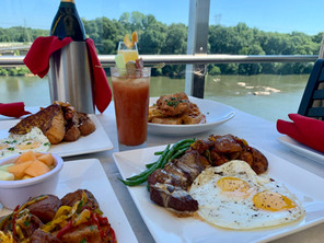 The Pump House rooftop brunch with a view