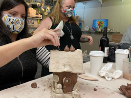 Coffee is off the menu but pottery classes are on!