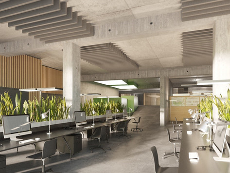 Revitalisierung eines Parkhauses zu moderner Bürofläche