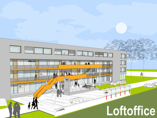 Coming soon:                                         Unser erster Neubau - H20 Loftoffice