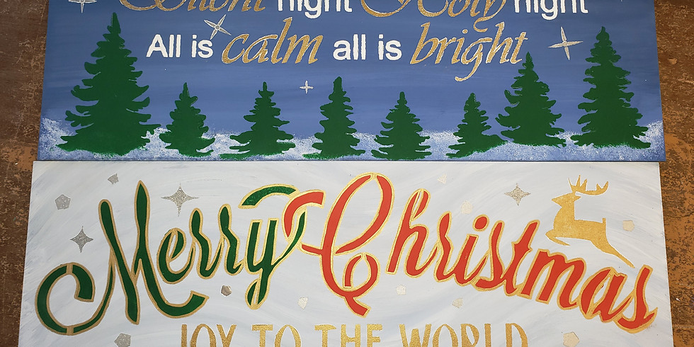 Christmas Stencil Board Art 10/30 1p