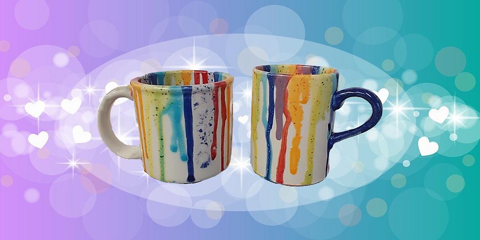 Color Drip Mugs