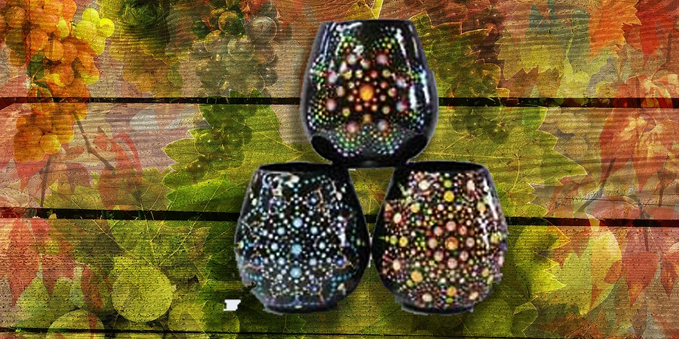 Dotted Stemless Wine Glasses