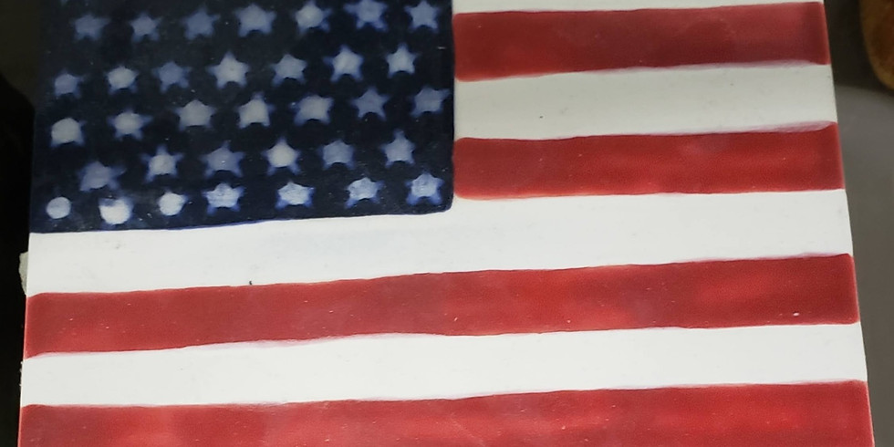 Glazed Flag Trivet 6/23/21