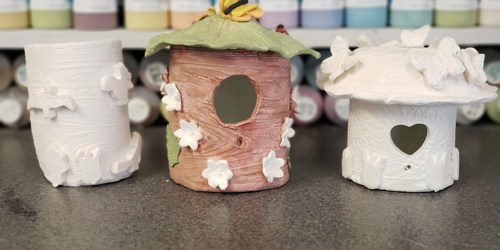 Clay Birdhouse Building 3/13
