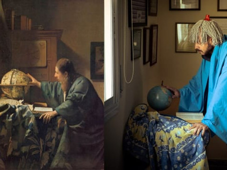 Défi créatif pour toute la famille: on joue à imiter un tableau!