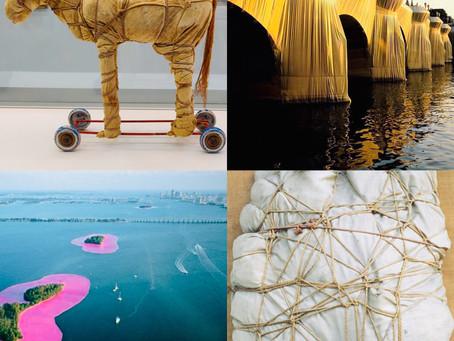 Un défi Petit Pois emballant à partir de l'oeuvre de Jeanne Claude et Christo!