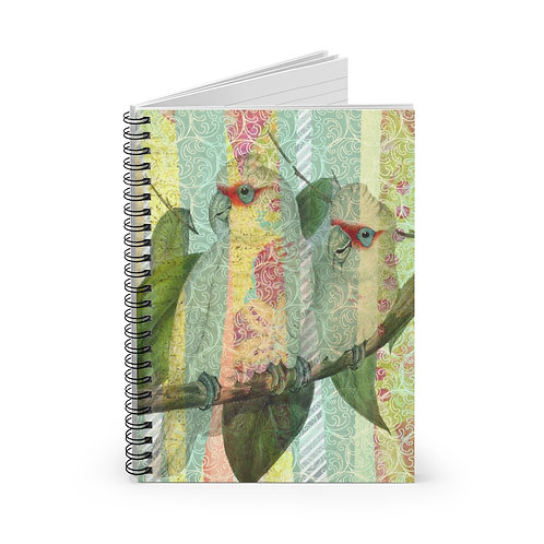 Tropical Bird Collage No. 0720 Spiral Notebook - Ruled Line