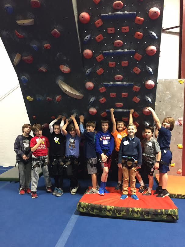 Rock climbing birthday party for kid