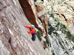 Woman Rock Climbing Outdoors