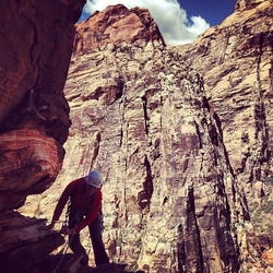woman climbing outdoors
