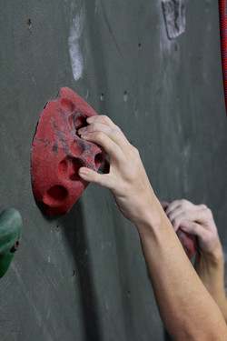climbing hold in a gym