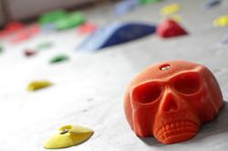 Skull-shaped Climbing holds