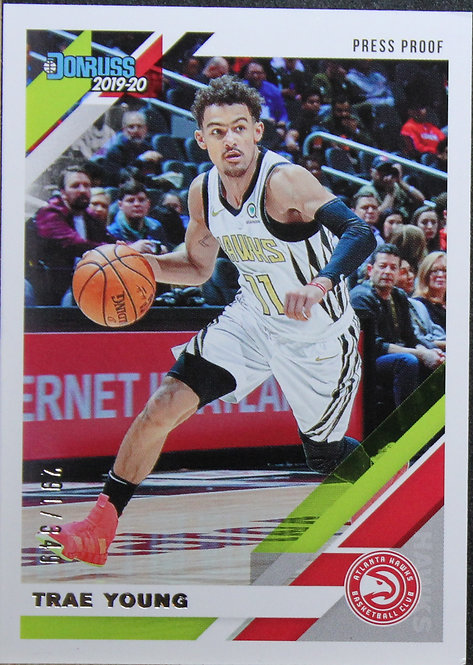 Trae Young  2019-20 Donruss Press Proof Silver 291/349