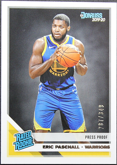 Eric Paschall 2019-20 Optic Rated Rookie Press Proof Silver 287/349