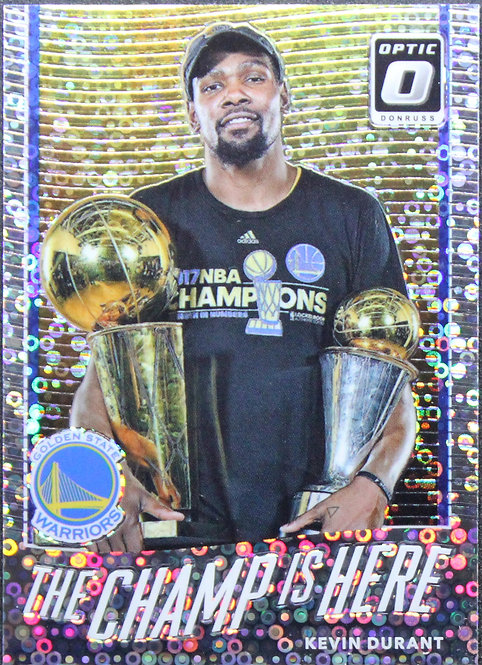 Kevin Durant 2017-18 The Champ is Here Fast Break Silver