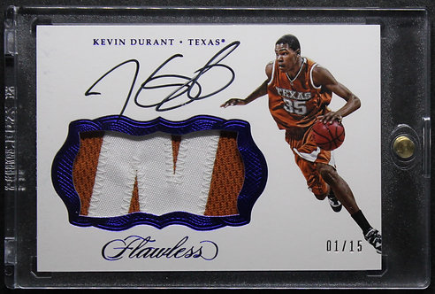 Kevin Durant Flawless Colliegiate Auto 01/15