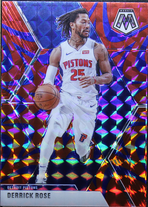 Derrick Rose 2019-20 Mosaic Blue Reactive