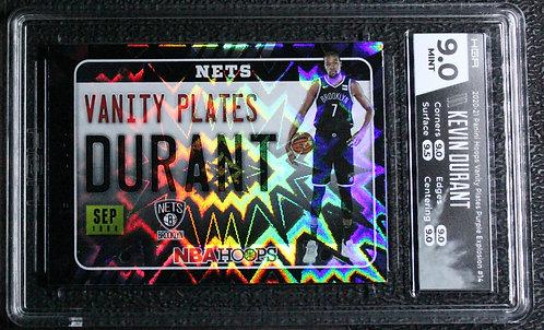 Kevin Durant 2020-21 Hoops Vanity Plates Purple Explosion HGA 9