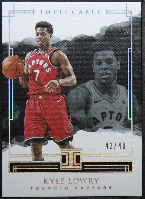 Kyle Lowry 2017-18 Impeccable Silver /49