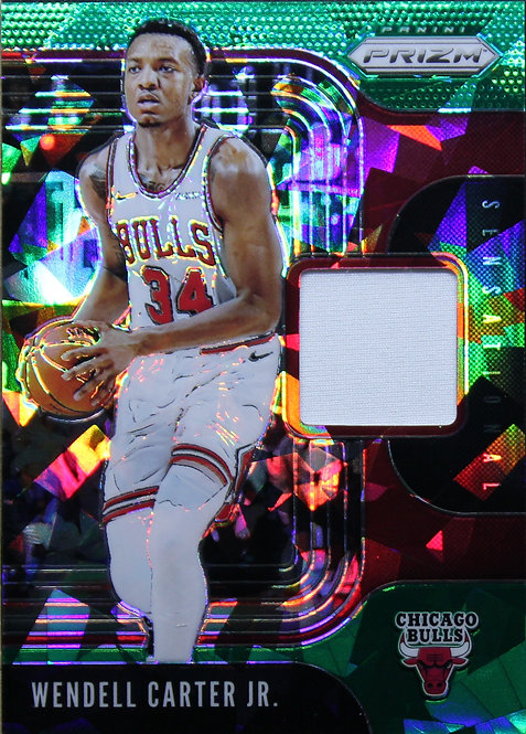 Wendell Carter Jr. 2019-20 Prizm Sensational Swatches Green Ice 33/56
