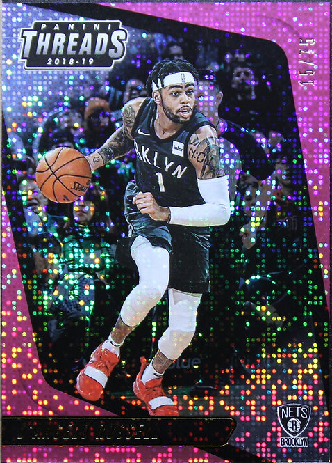 D'Angelo Russell 2018-19 Threads Dazzle Pink 15/75