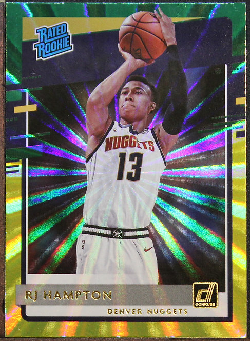 RJ Hampton 2020-21 Donruss Green and Yellow Laser Rated Rookie