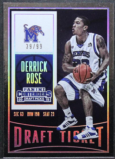 Derrick Rose 2015-16 Contenders Draft Picks 39/99