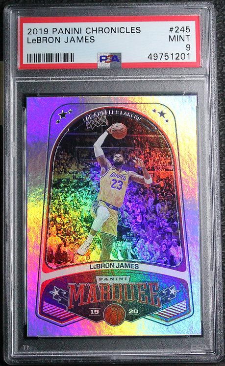 Lebron James 2019-20 Chronicles Marquee Silver PSA 9