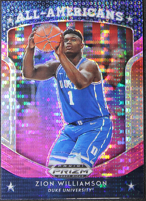 Zion Williamson 2019-20 Prizm Draft Picks All Americans Pink