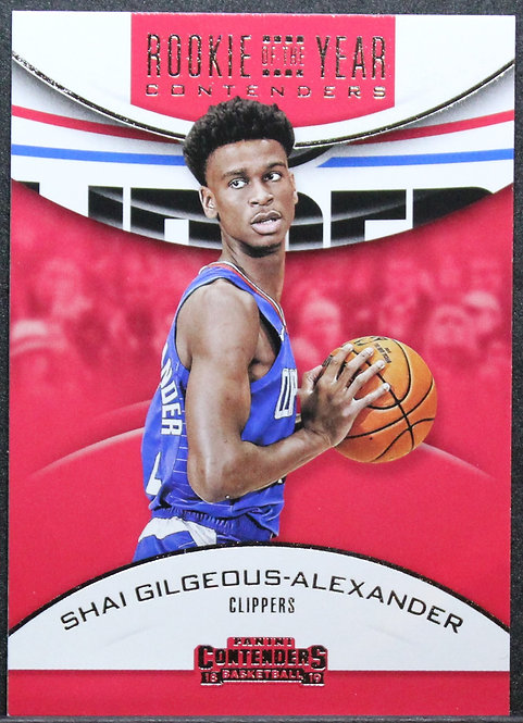 Shai Gilgeous-Alexander 2018-19 Contenders Rookie of the Year Contenders Retail