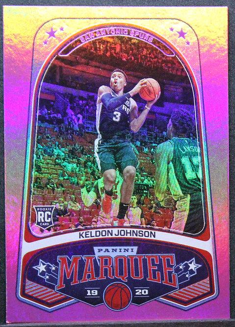 Keldon Johnson 2019-20 Chronicles Pink Marquee