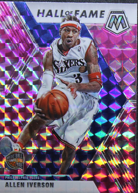 Allen Iverson 2019-20 Mosaics Pink Camo Hall Of Fame