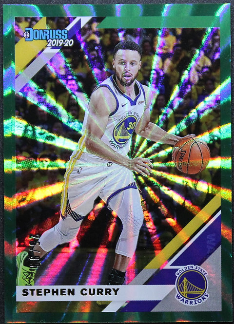 Stephen Curry 2019-20 Donruss Green laser 25/99