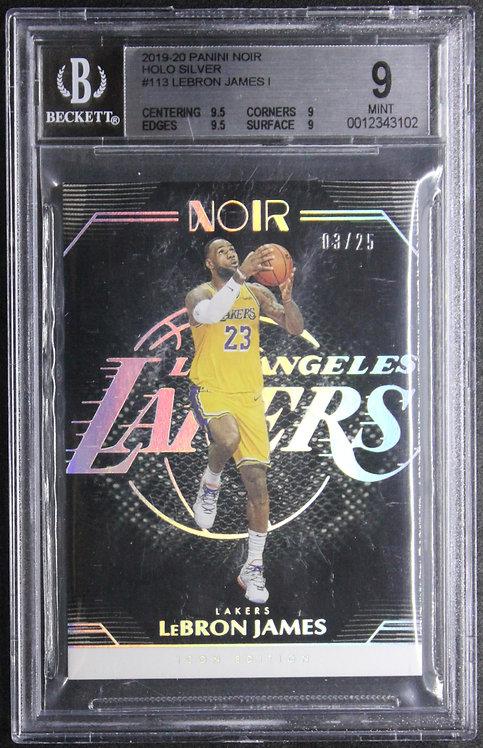 LeBron James Noir Holo Silver Icons Edition 03/25 BGS 9