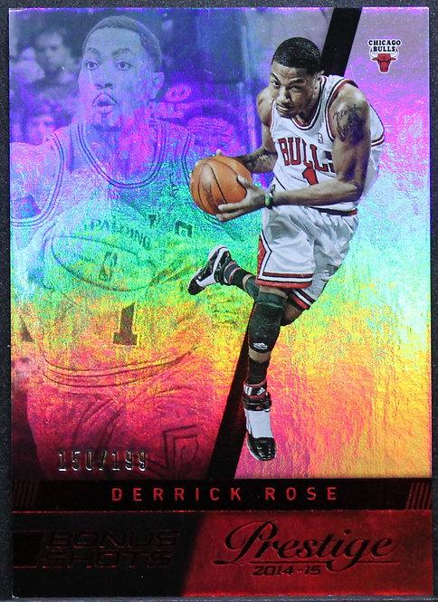 Derrick Rose 2014-15 Prestige Premium Bonus Shots Red 150/199