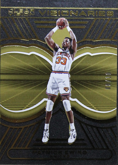 Patrick Ewing 2015-16 Clear Visionaries Gold 08/10